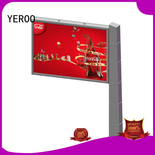 double sided outdoor billboard backlit outdoor advertising