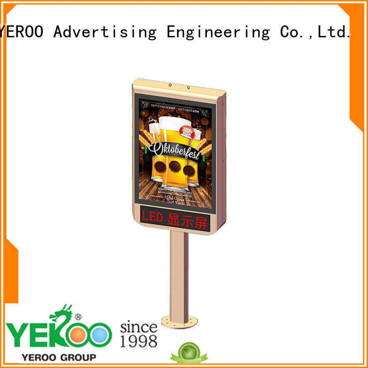 stainless steel backlit sign box for street ads