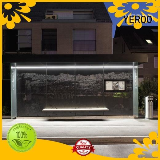 YEROO smart bus shelter metal for suburb