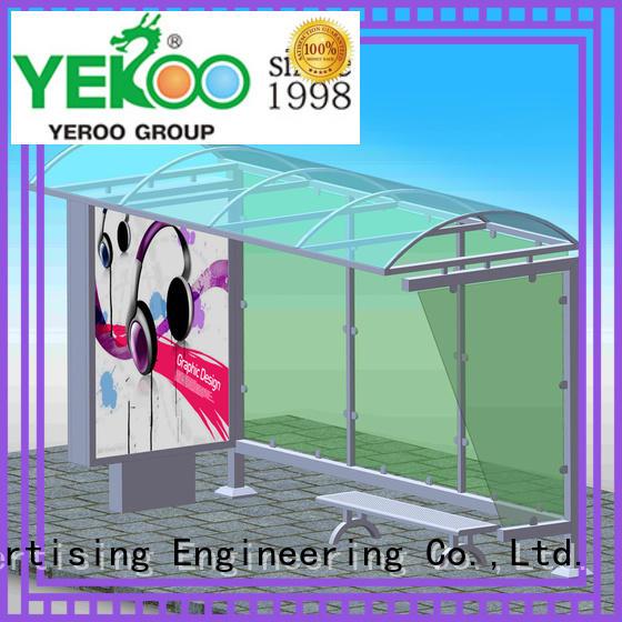 YEROO Bus Shelter bulk supply for outdoor advertising