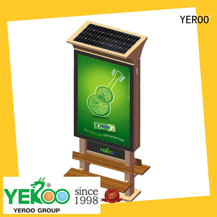 YEROO free standing outdoor light box fast delivery for parking lot