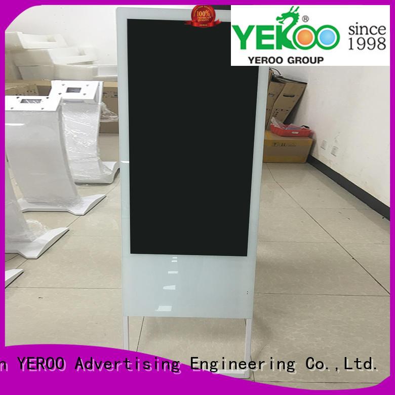 YEROO interactive digital signage displays top brand smart shopping