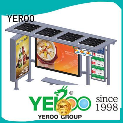 solar bus stop kiosk shelter YEROO
