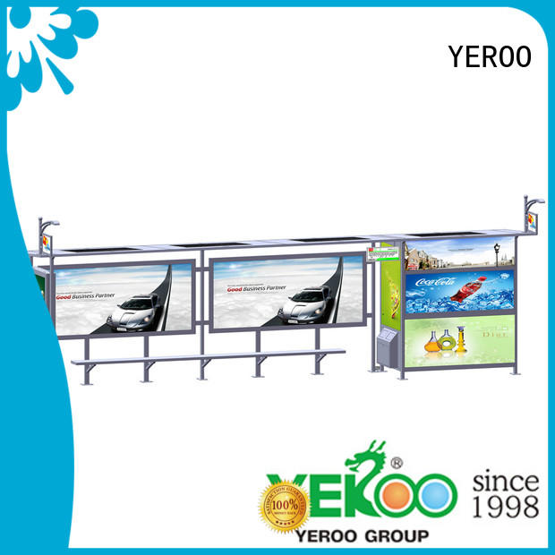 YEROO energy-saving solar bus stop for bus stop