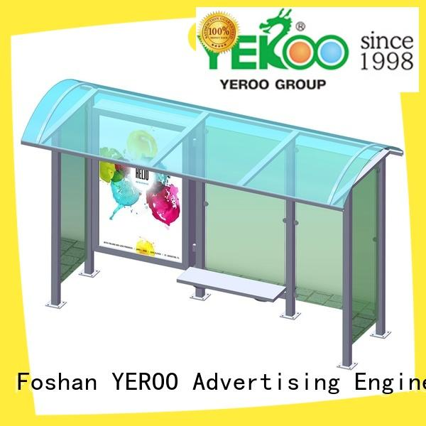 stainless bus stop shed metal YEROO