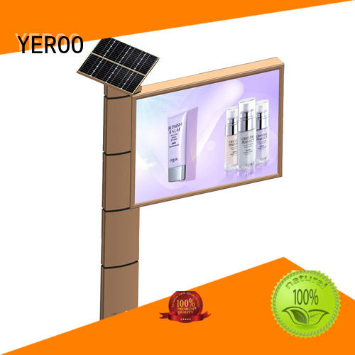 fast ads backlit billboard led outdoor advertising YEROO