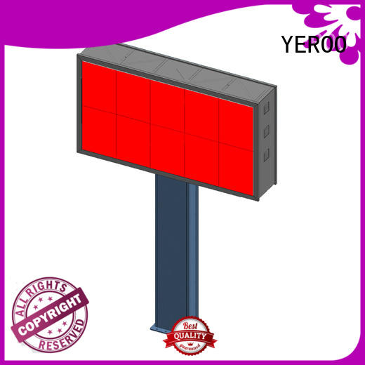 customized led billboard wall mounted for parking lot