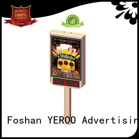 YEROO scrolling led light box display customized design for street ads