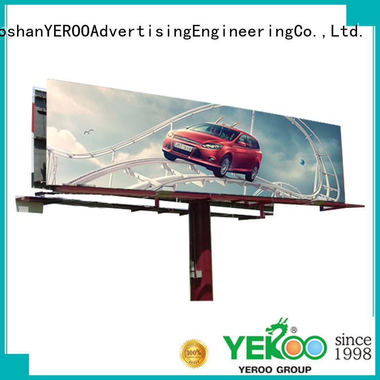 YEROO three sided solar powered billboard lights inquire now for highway