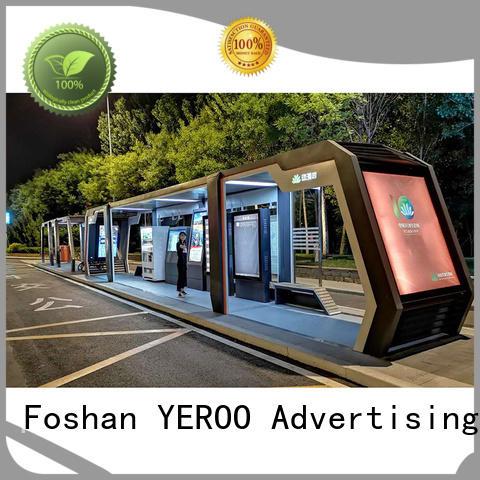 Modern smart multi functional bus stop shelter