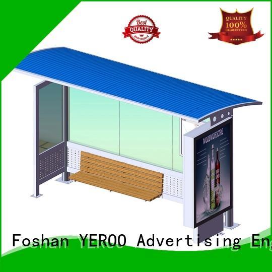 stainless steel bus stop shelter design bulk supply for suburb