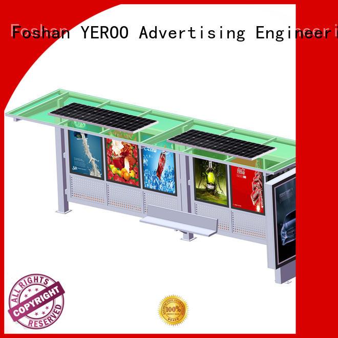 solar power solar powered bus stop vending YEROO
