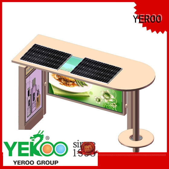recharge socket solar bus shelter powered for outdoor ads YEROO