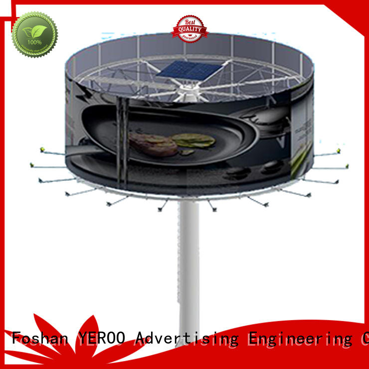 2019 steel structure outdoor billboard double side round shaped billboard