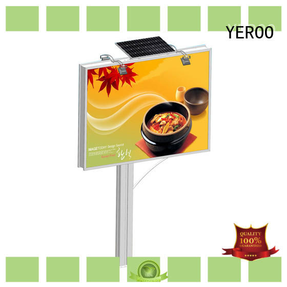 YEROO three sided solar powered billboard manufacturer for super mall